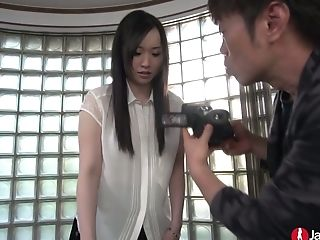 A Bit Bashful Japanese Black Head Is Revved Into A Real Trampy Cowgirl