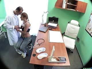 Gonzo Honeypot Pounding On The Hospital Sofa With Natural Tits Crissy