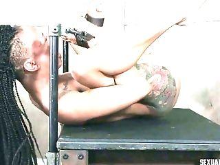 Sexy Tattooed Black Nymphomaniac Nikki Darling Is Totally Into Sucking Milky Dick