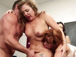 Sexy Women Are Having Joy In Front Of A Crowd