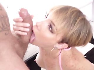 Man Has An Act Of Procreating With Latina Blonde With Humungous Tits