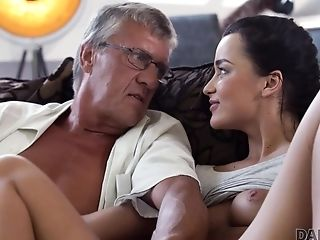 Middle-elderly Man Has Joy With Son-in-law's Unsatisfied Gf
