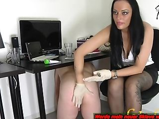 German Mummy Have A Office Sub Domination & Submission Fem Dom