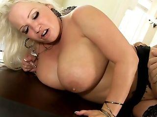 Hazel Eyed Big Boobed Blonde Housewife Rachel Love Is Fucked Hard