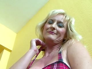 Matures Blonde Mummy Monika Wipper Gets Jism All Over Her Natural Tits