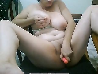 Horny Matures With Big Tits Masturbates And Fucked Her Labia