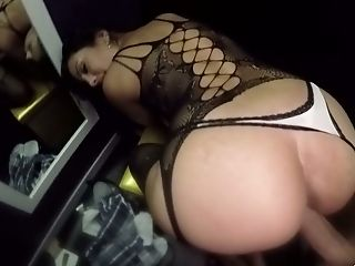 Big Jugged Lusty Black-haired Katrina Moreno Gets Fucked In Standing Pose
