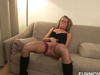 Lewd Puckered Matures Biotch Is So Into Masturbating Herself Before Two Mates