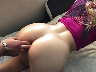 Caught Her With A Banana In The Booty And Fucked