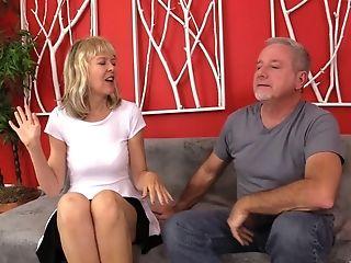 Blonde Mummy Clare Fonda Adores To Suck Her Friend's Penis Until He Jizz