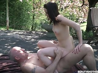 Outdoor Rear End Fuck With Ultra-cute Nubile Charlotte Johnson Taking Old Schlong