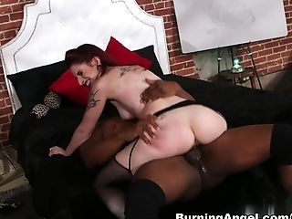 Crazy Adult Movie Stars Prince Yahshua, Sheena Rose In Exotic Interracial, Sandy-haired Hook-up Clip
