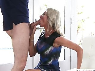 This Cougar Owes Her Beauty To Sport And Youthfull Guys And She Fucks Like Mad