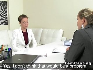 Inexperienced Stunner Finger-tickling Female Agent Casting G/g