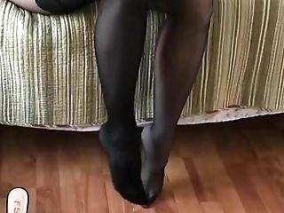Black Stockings Over Pantyhose