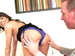 Black-haired Gal Gets Her Cock-squeezing Bung Fuck-hole Examined In A Close Up