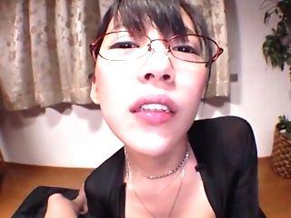 Nerdy Japanese Assistant With Big Tits Mizukawa Kazuha Blows Rod Point Of View