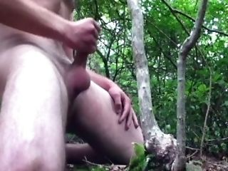 Ambisexual-nosey Plays In The Forest And Cums