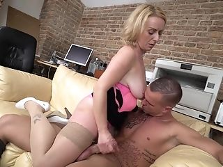 Horny Matures Blonde Gives Head And Rails His Stiff Manhood
