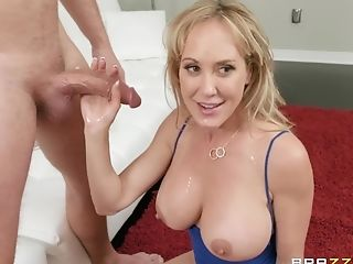 Voluptuous Bombshell Mummy Brandi Love Gets Fleshy Jizz On Her Big Tits
