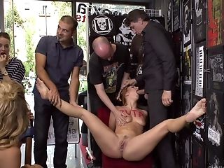 Public Torment And Slit Drilling By Lot Of Dudes For Mona Wales